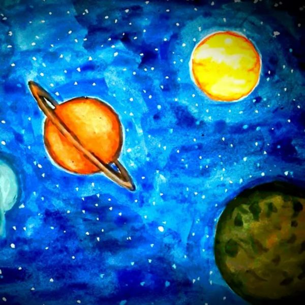 165 рисунков на тему космоса